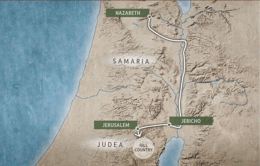 Nazareth to Judea