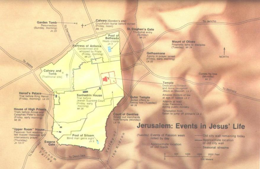 Events in the life of Jesus (Jerusalem)